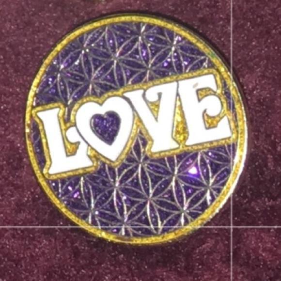 Love Sacred Geometry Hat Pin